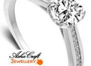 Simulated Diamond Solitaire Engagement Ring
