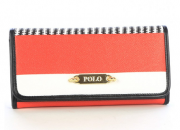 Ladies' Polo Basket Weave Clutch Purse