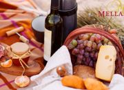 Escape to picturesque Mellasat Vineyards for a Gourmet Picnic, Wine and a Wine Tasting Experience for 2 People! Includes: Cured Meats, Gourmet Cheeses, Freshly Baked Bread, Salads, Homemade Chutney, Belgium Chocolate Brownies & More!