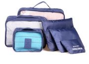 6 in 1 Outdoor Traveling / Household Clothing Storage Bag Included Six Pieces Suit(Dark Blue)