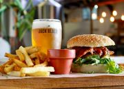 Burger and a Choice of Side for Two Including a 330ml Beer Each at Jack Black's Brewing Company