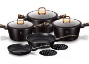 Berlinger Haus 10-Piece Marble Coating Cookware Set Black Rose Collection for R2299