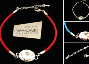 Leather bracelet made with Swarovski Elements (available in red, black, blue and pink) for only R249, including delivery