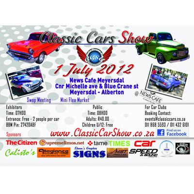 The Classic Car Show - awesome family fun for only R20 per person!