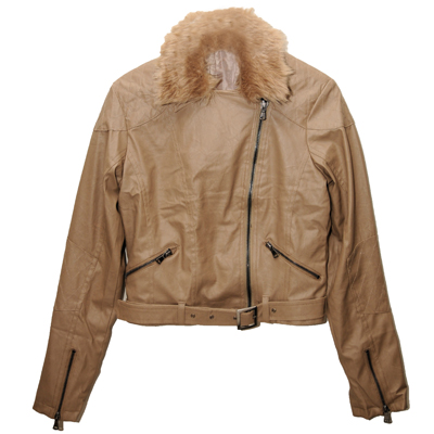 Designer PU Leather Jacket with detachable faux fur for R465 including delivery