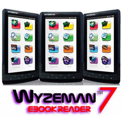 Read eBooks, watch movies and listen to music with the 7 inch colour Wyzeman! Only R799 including delivery!