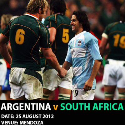 Spend 5 nights in vibrant Argentina (all inclusive) and experience all the rugby action live as the Springboks take on the Pumas, this August at the Mendoza Stadium, Argentina!!