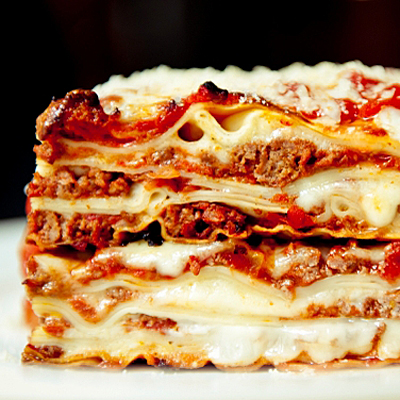 Fill your stomach with a cheesy beef or veggie lasagne at D'Angelos!