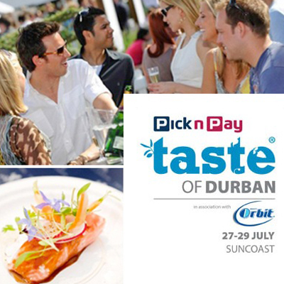 The first ever Taste of Durban comes to town! Pay only R40 for entrance and a tasting glass!