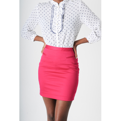 Statement Cerise Skirt | 46664