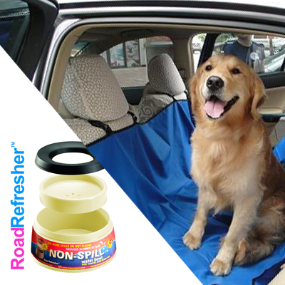 Let your dog ride in style in the pet hammock along with a Road Refresher, a non-spill dog bowl - both for only R450, including delivery!