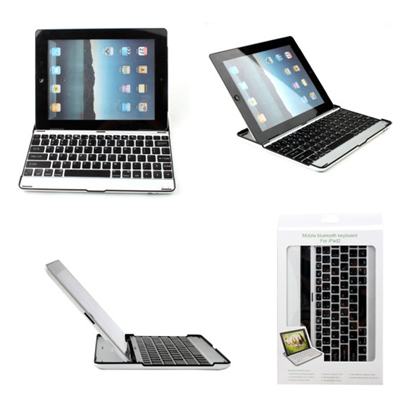 A stunning little number! Portable ultra slim aluminium wireless Bluetooth 2.0 keyboard for the NEW iPad 3rd gen and iPad 2!