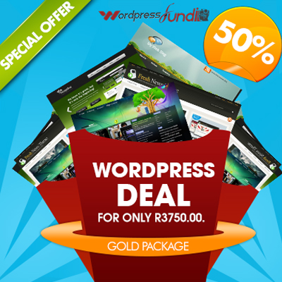 Are You Looking for a Custom Wordpress Website Design? Look no further! Pay R3750 for the Gold Package from Wordpress Fundi!