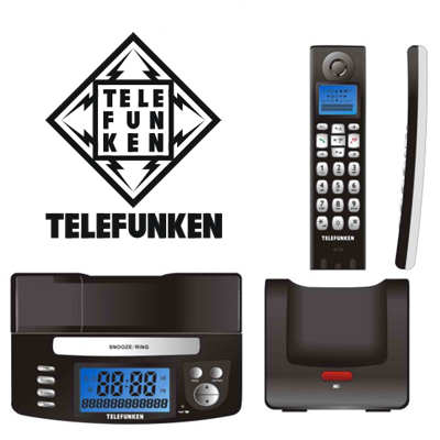 Digitally enhanced Telefunken cordless phone integrated with a clock device - R559! Includes nationwide delivery!