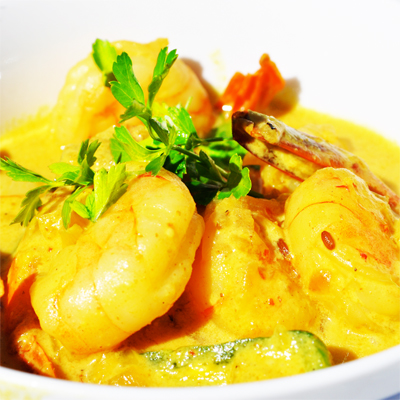Enjoy a delicious seafood curry at Mange Tout Restaurant, in KZN for R50 per person!