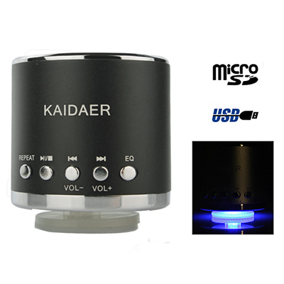 Experience pristine sound from the Kaidaer KD-MN01 Music Angle speaker - a portable speaker supported by a micro SD card. Great for your laptop! Only R133!