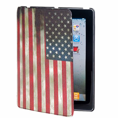 Retro American Flag design PU hardcover case for new iPad 3 and iPad 2 at only R172.00 incl delivery!