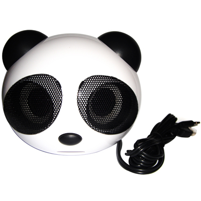 Own your own Panda! A Mini Panda-shaped portable speaker for iPod /MP3/ MP4/ PC/ PSP in Black for just R197 incl nationwide delivery!