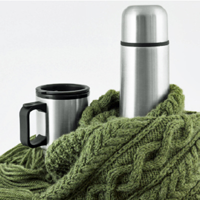 A gift everyone will appreciate! This popular set includes 1 X 500 ml stainless steel flask and 2 X 230 ml mugs! includes nationwide delivery!