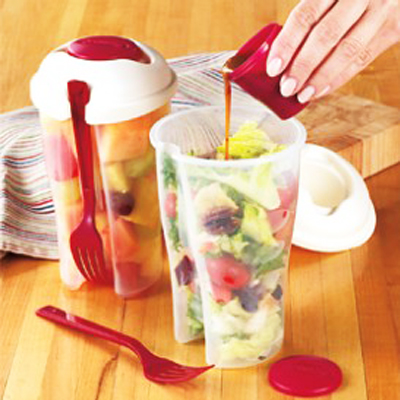 Make sure your food stays fresh crisp and cool with this fabulous salad 2 go and cereal 2 go combo set, includes nationwide delivery!