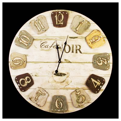 Wooden Cafe Noir Clock | R396 incl nationwide delivery via courier