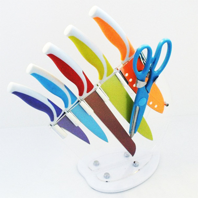 Get this colourful 7 piece non stick knife set for ONLY R409, including nationwide delivery!