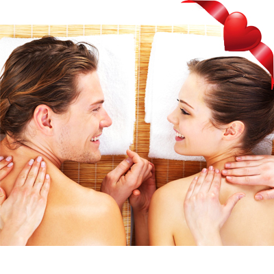 Valentines gift! Complimentary champagne with 60 minute couples massages for only R380