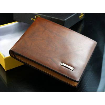 Men's Brown Leather Wallet - Pidengbao | R125