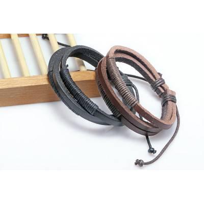 2 x Leather Wrap Bracelet for Men | R104