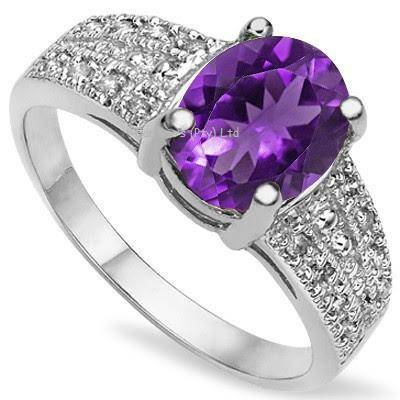 Amethyst and Diamond Ring | R500