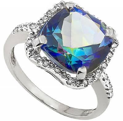 Mystic Topaz and Diamond Ring   R650