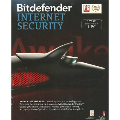 Bitdefender Internet Security - 1 Year Protection for 1 PC   R160
