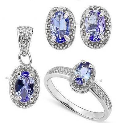 Tanzanite and Diamond Set | R980