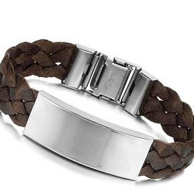 Men's Stainless Steel and Silk Bracelet | R150