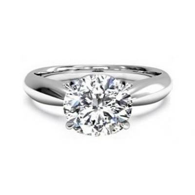 2.12ct Solitaire Genuine 925 Sterling Silver Ring   R299