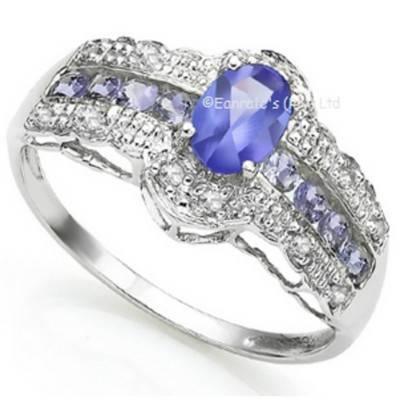 Tanzanite and Diamond Ring | R680
