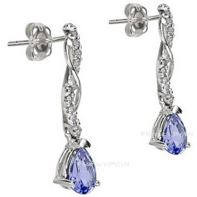 Alluring 0.71cts Genuine Tanzanite and Diamond Earrings | R680