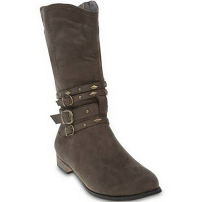 Buckle Detailed Mid-Calf Boots by Gino Paoli | R449