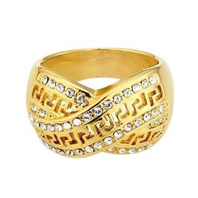 Stylish 18K Gold Plated Rhinestone Crystal Ring | From R99
