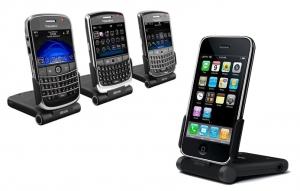 Dexim Foldable Portable Charger & Stand for BlackBerry or iPhone