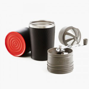 Cafflano World's First Portable All-in-one Coffee Maker -Tumbler Hand Mill Grinder Dripper