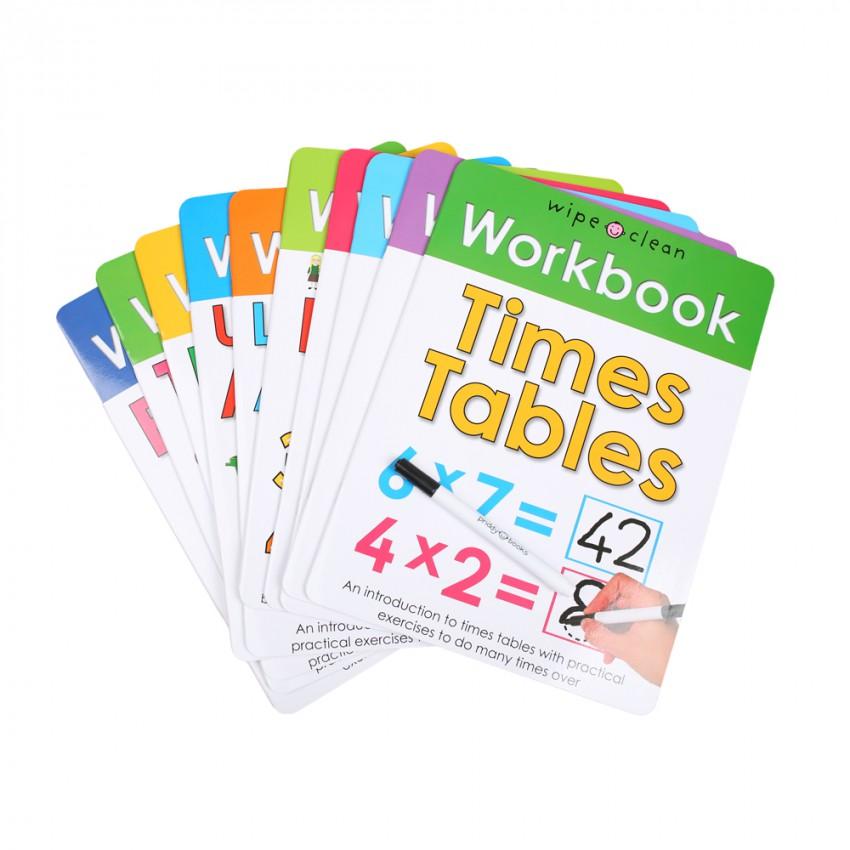 Priddy Books Write and Wipe Educational Books (10 Books)