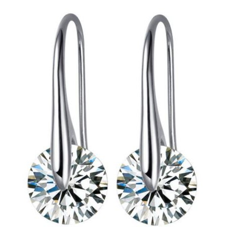 Mestige Crystal Eclipse Earrings Made With Swarovski Elements
