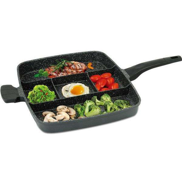 Royalty Line 32cm Marble-Coated 4-in-1 Grill & Fry Pan