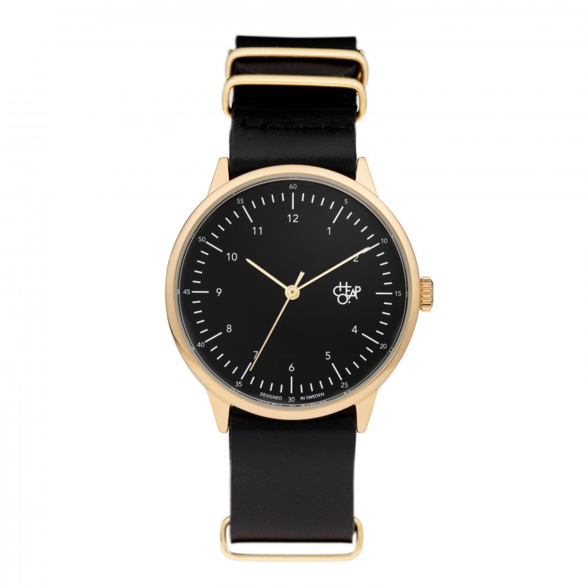 Cheapo Classic Swedish Harold Watches with Leather Strap (Different Sizes Available)