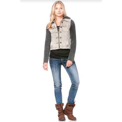 Miss Me Hooded Denim Jacket