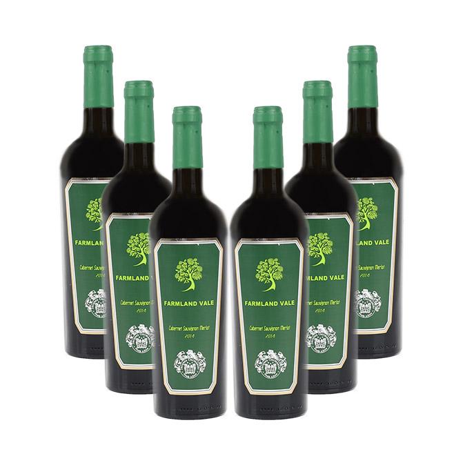 Farmland Vale By Jacques Germanier Case of Cabernet Sauvignon Merlot 2014 (R50 per Bottle, 6 Bottles)