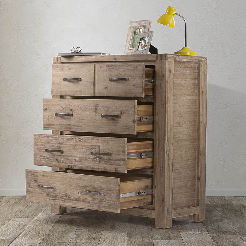 Vancouver Acacia Wood Chest of Drawers