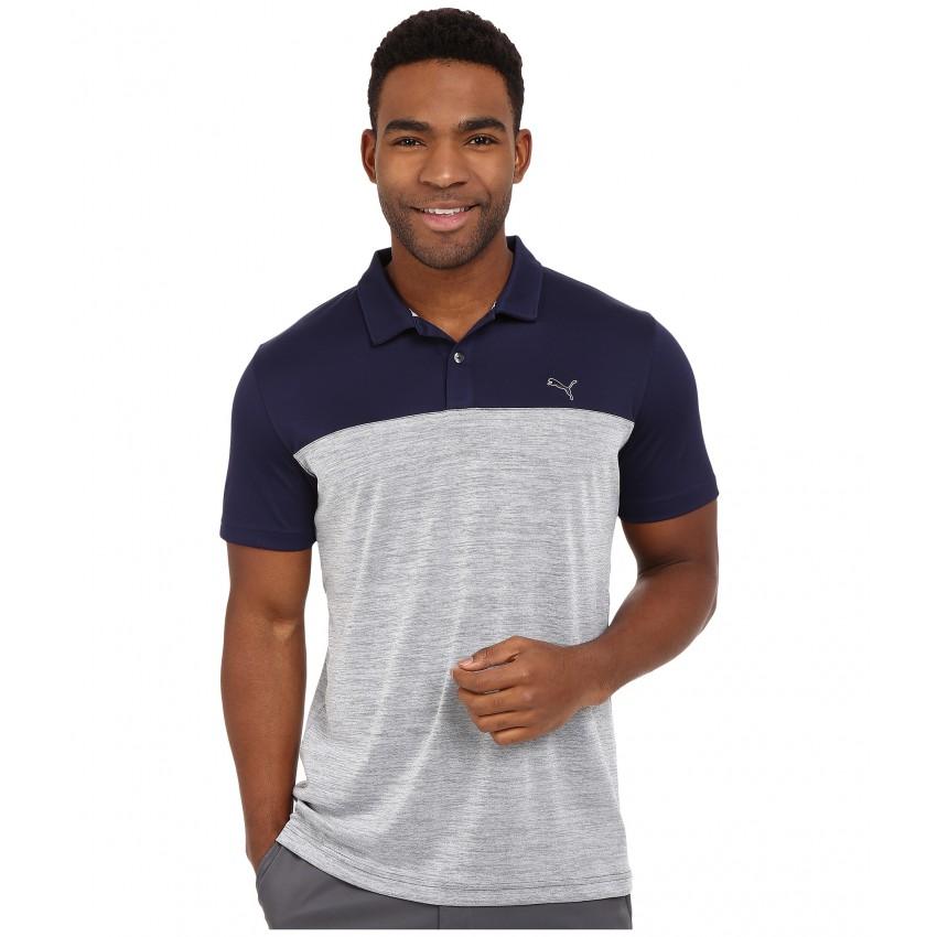 PUMA Golf Mens Tailored Platform Polo Shirt
