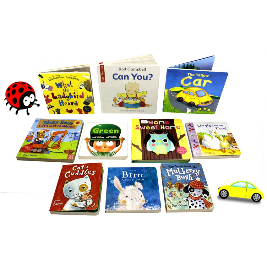 Little Readers Miniature Kids Board Book Collection (10 Books)